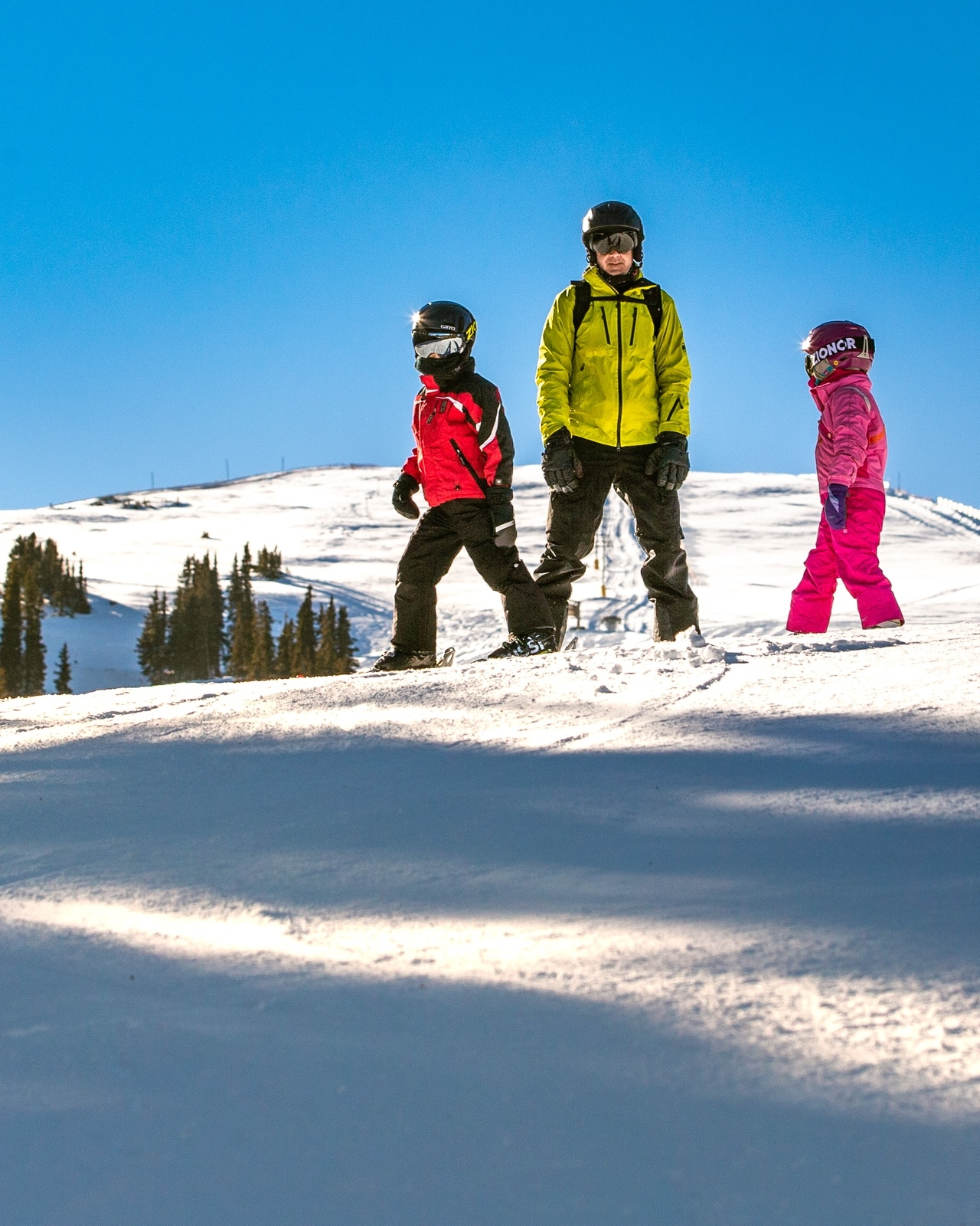 A family skis on opening day Monday, Nov. 30, at Copper Mountain Resort. | Photo by Liz Copan / Studio Copan