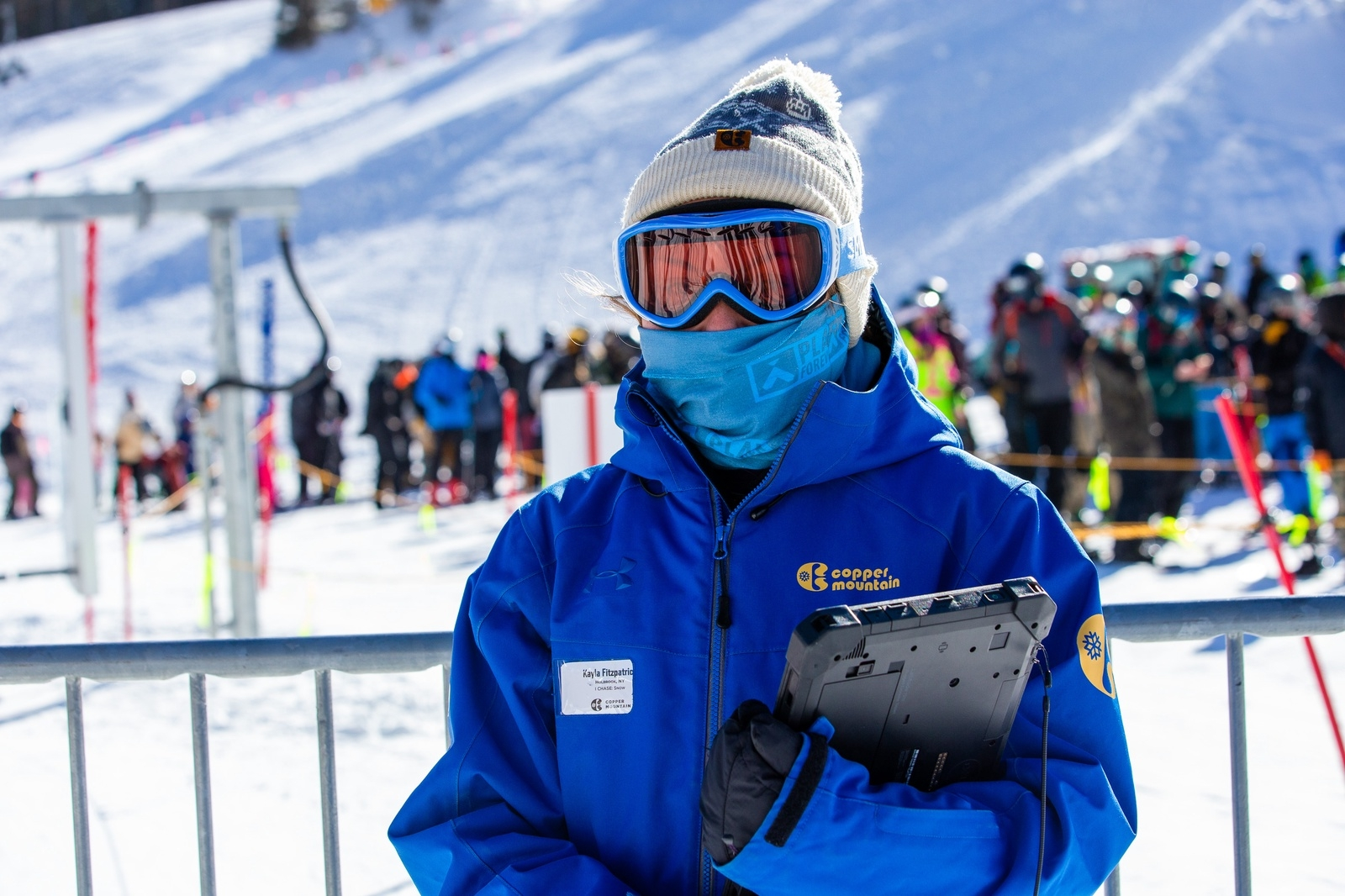 Kayla Fitzpatrick works at Copper Mountain Resort on opening day Monday, Nov. 30. | Photo by Liz Copan / Studio Copan