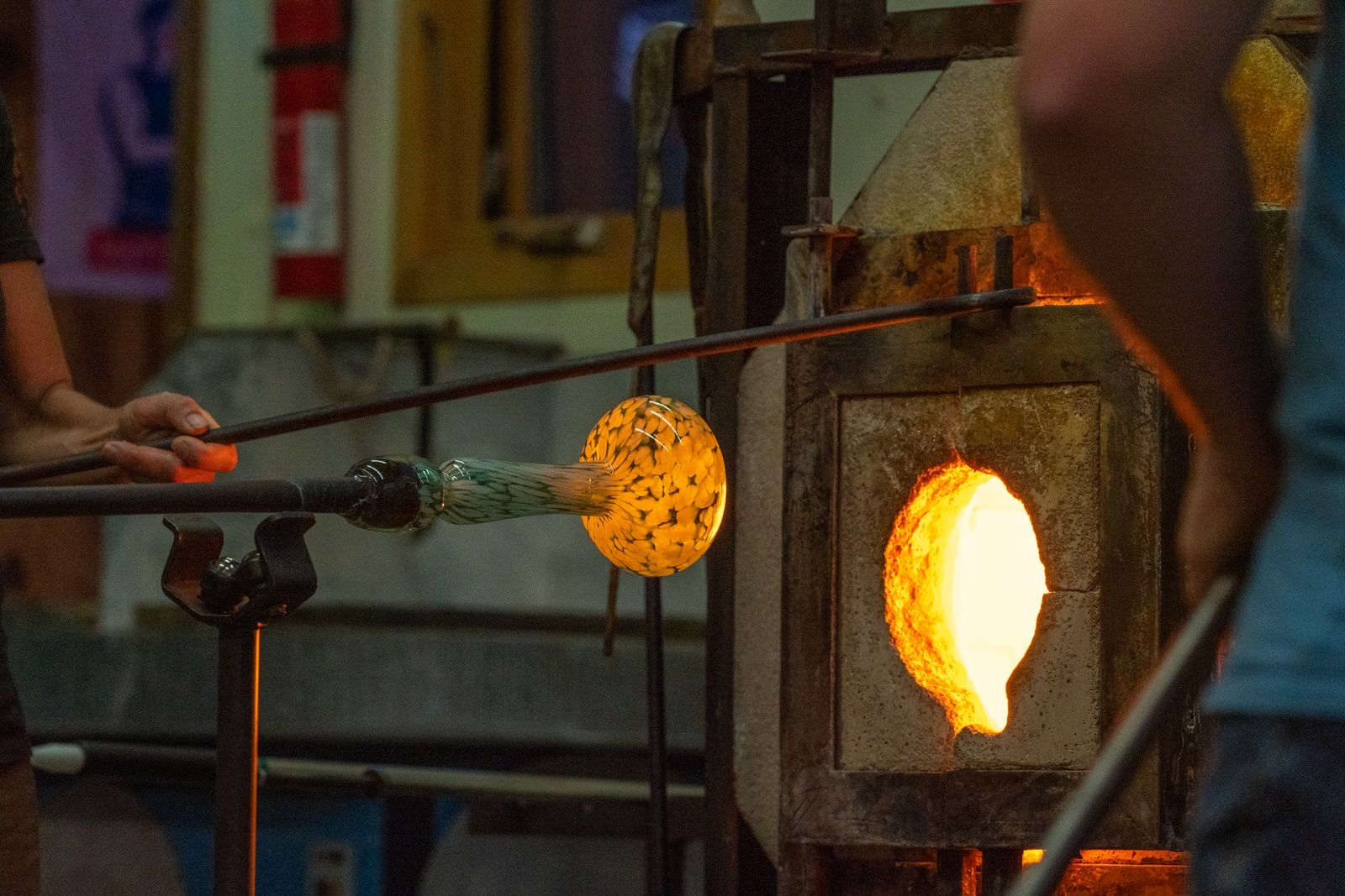 Spiro Lyon Glass is the only hot shop in the Roaring Fork Valley (CRMS operates one, but for students only). | Craig Turpin/Rising Sun Photography