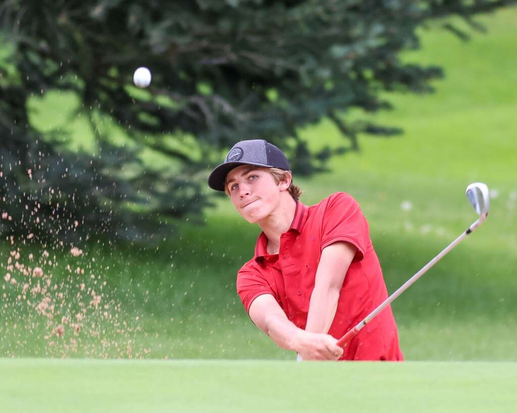 Aspen High School's Miles Butera practices on Tuesday, Aug. 3, 2021, at Aspen Golf Club. Photo by Austin Colbert/The Aspen Times.