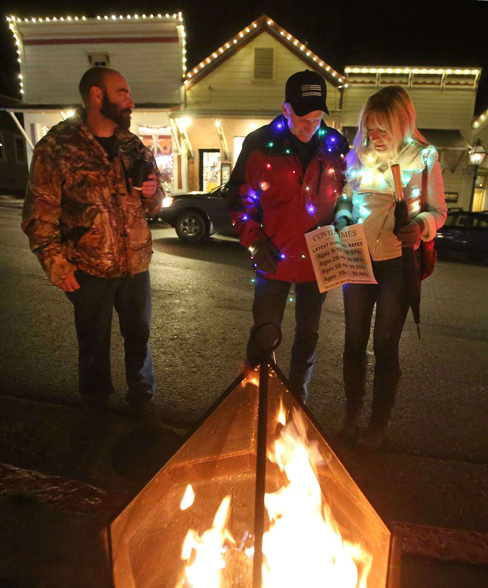 Folks wore festive attire as they attend the Nevada City Revival event Friday in downtown Nevada City.