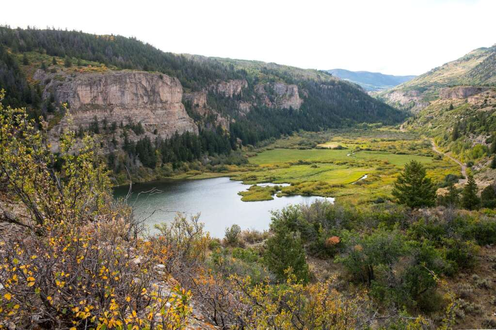 Sweetwater Lake, located in remote northeastern Garfield County in the Flat Tops, is set to become Colorado's first state park on federal land, after it was acquired by the U.S. Forest Service in August 2021.| Tom Lotshaw/Office of the Governor