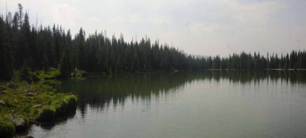 Black Mandall Lake off of Mandall Lakes Trail in the Flat Tops Wilderness. (Photo by Shelby Reardon)