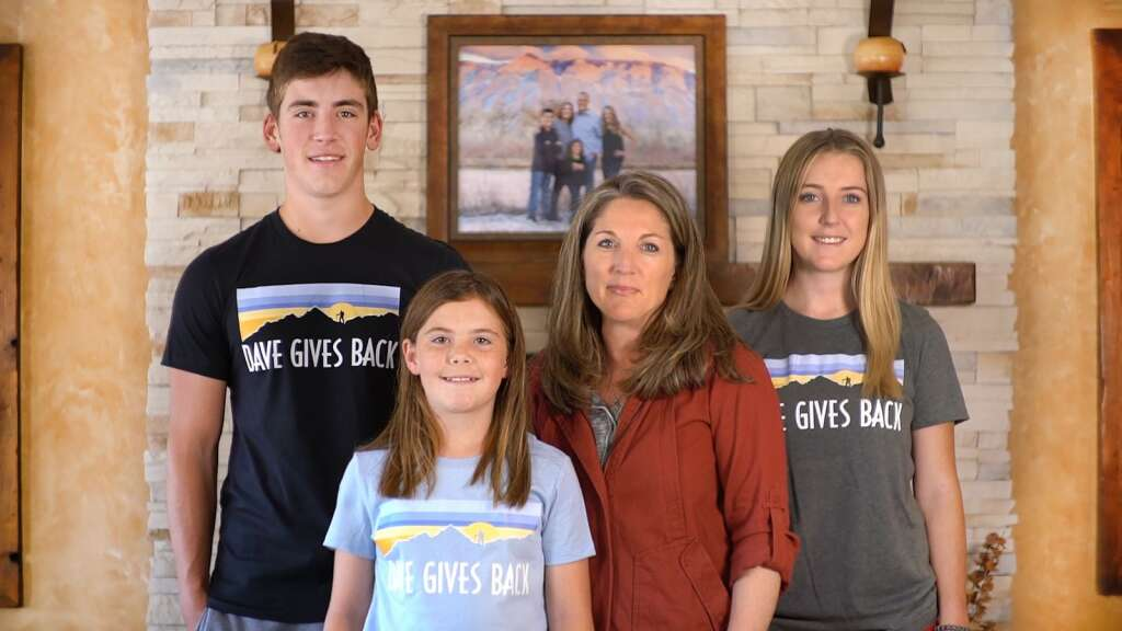The Cook family wears T-shirts honoring their father and husband, David, who went missing in 2016.