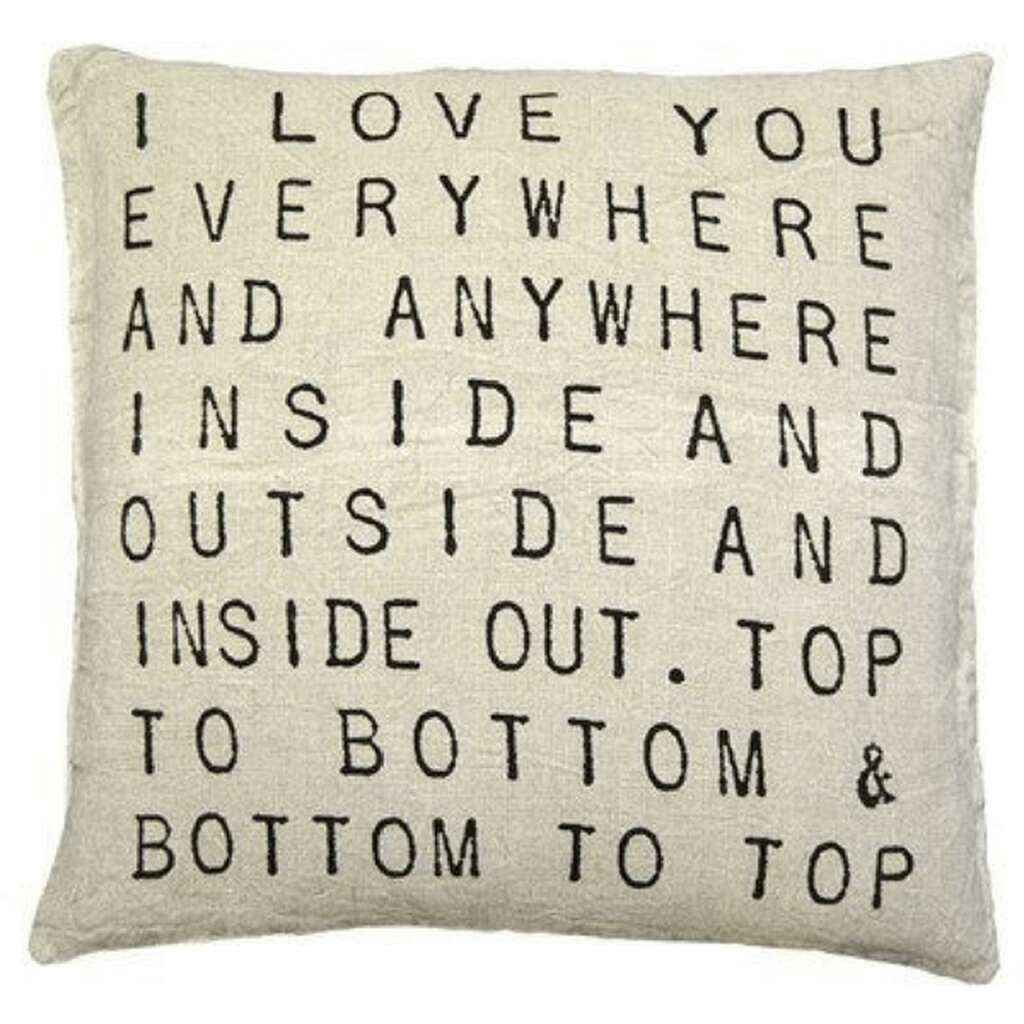 Snuggle up with this machine washable linen pillow, with a removable, stonewashed cover, as well as a down insert. Measures 24