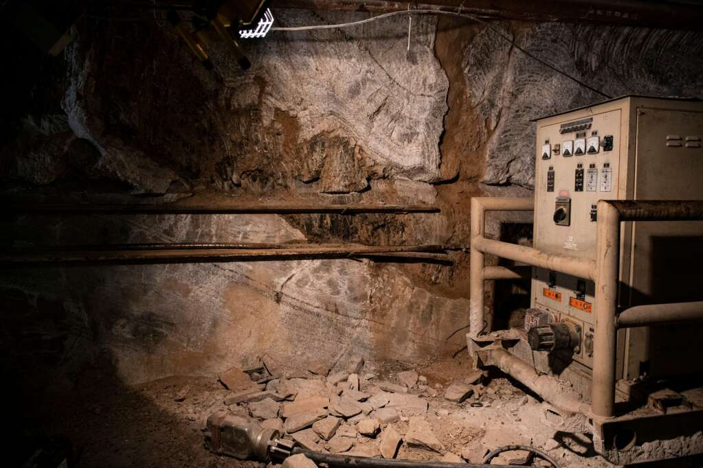 Machinery sits idled in Robert Congdon's White Banks Alabaster Mine outside of Redstone on Thursday, July 29, 2021. (Kelsey Brunner/The Aspen Times)