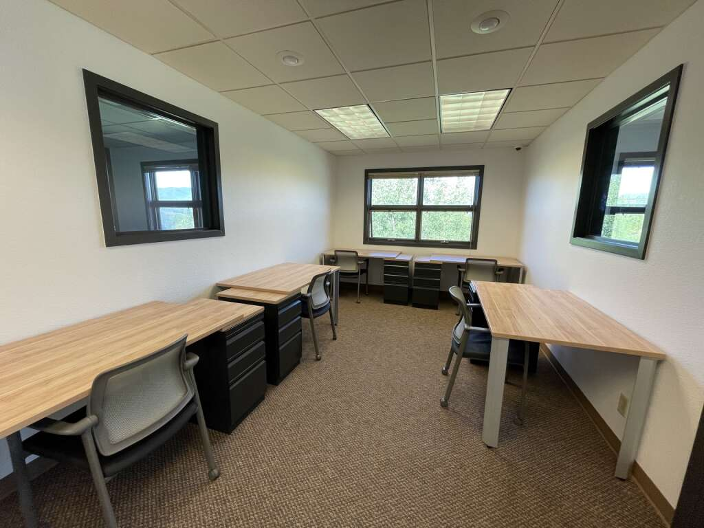 The second floor of The Mountain Space houses three private offices and a few desks that can be rented or used for daily visitors. The new coworking space in Dillon just opened late June. | Photo by Jenna deJong