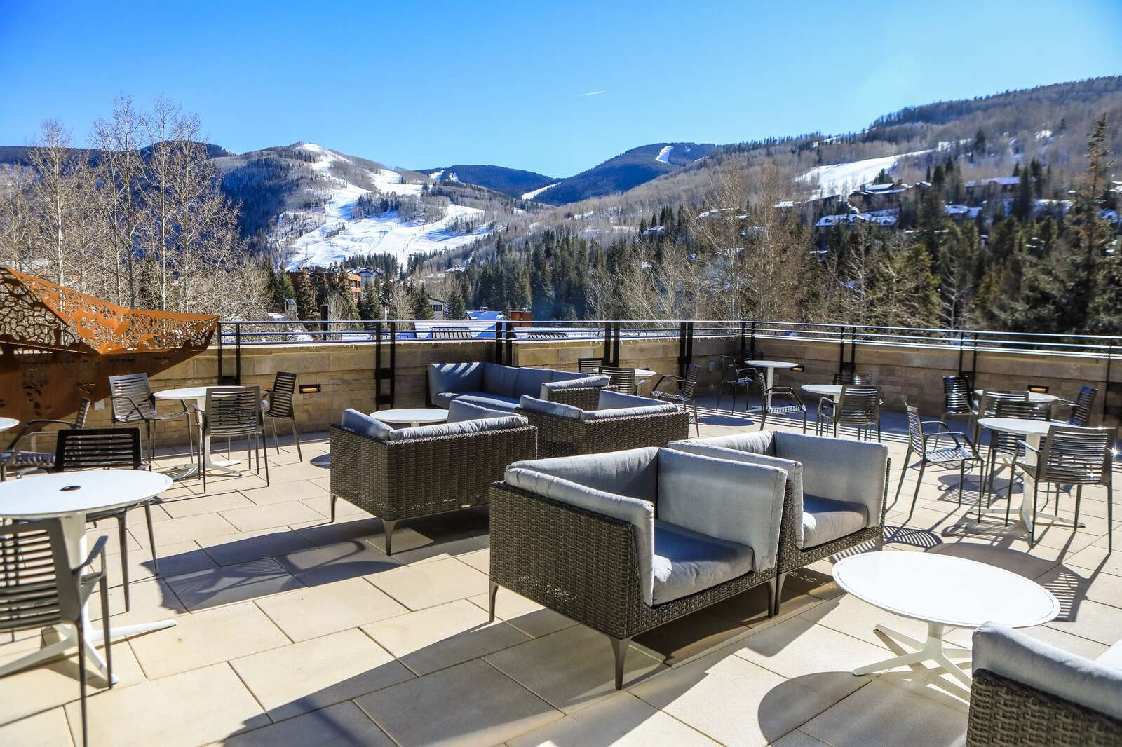 The outside lounge on the new east wing of Vail Health Hospital Monday in Vail. | Chris Dillmann/cdillmann@vaildaily.com