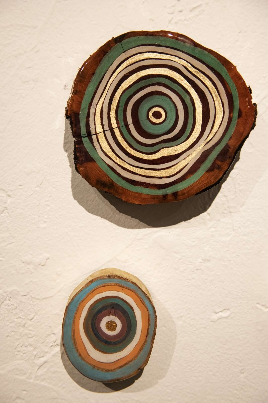 Pieces by Nicol Gogolak are displayed in the Aspen Chapel Gallery for the Small Wonders holiday show and sale on Tuesday, Nov. 17, 2020. (Kelsey Brunner/The Aspen Times)