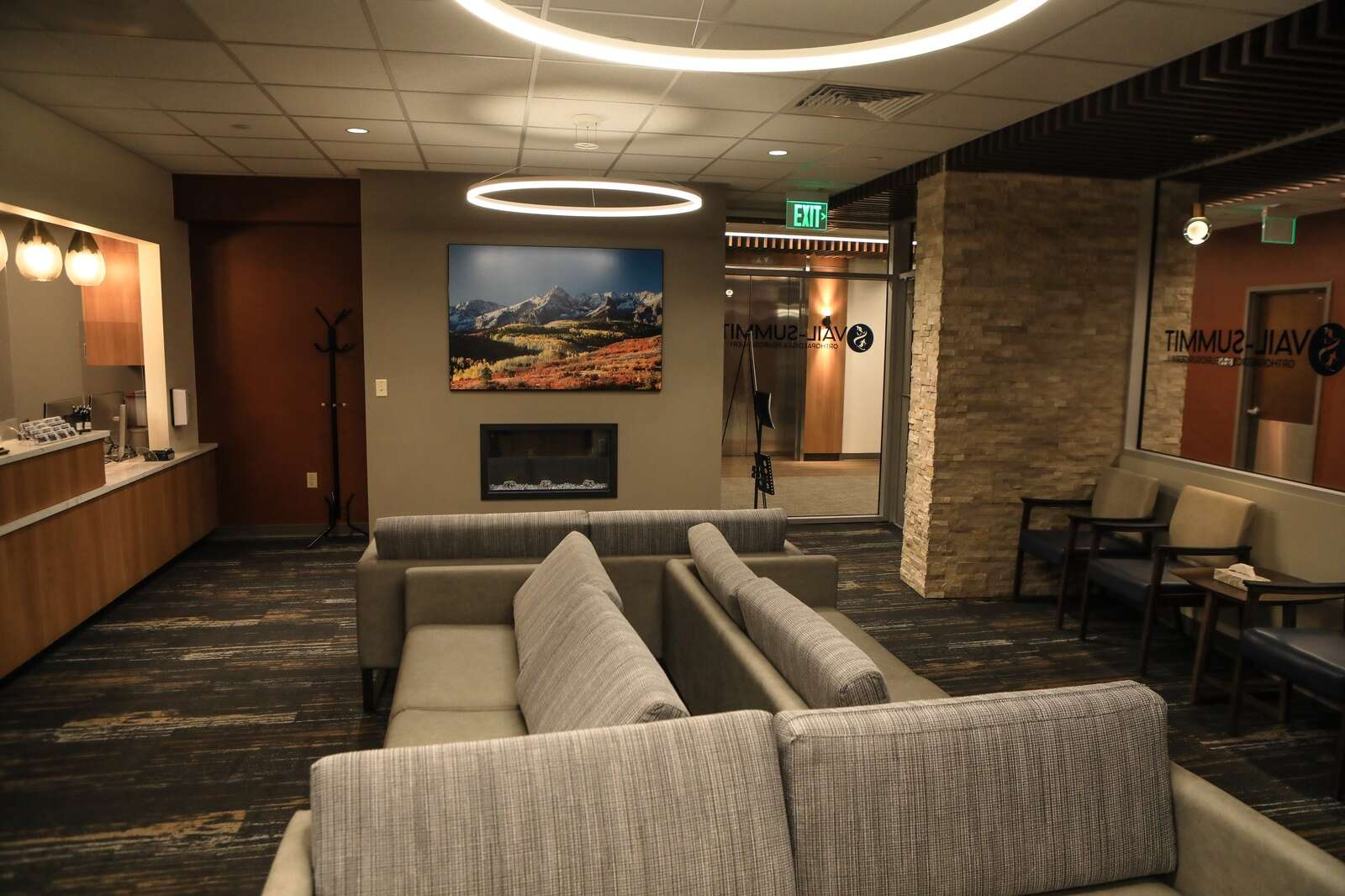 The lobby of the new Vail-Summit Orthopedics Monday in Vail.