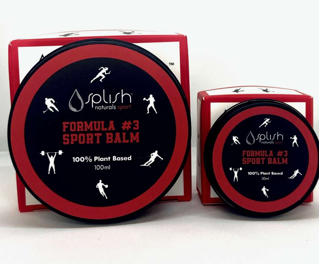 The sports balm is one of the new products that is part of Splish Naturals' new sports line. The product line was launched in August 2021. | The Splish Network/Courtesy photo