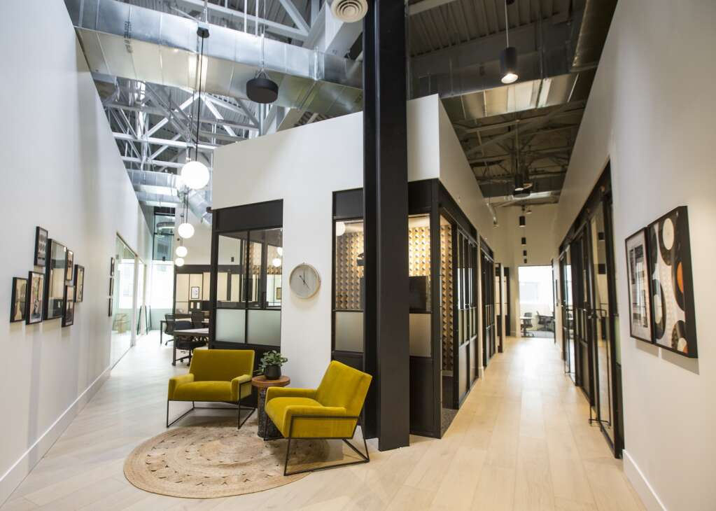 Kiln, a new co-working space, has moved in to 1090 Center Drive in Kimball Junction. The company touts shared office spaces that cater to both C-suite executives on retreat and growing businesses in the tech industries. Kiln provides its members with amenities aimed to provide support, including an on-site theater, refresh rooms, deep workrooms, a parenting room, a café, a podcast studio, walking and biking desks along with a variety of events and programming. (Tanzi Propst/Park Record)