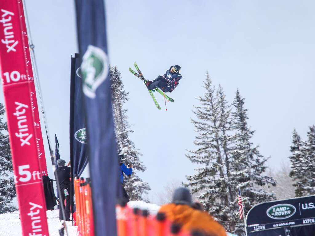 Aspen's Alex Ferreira competes in the men's freeski halfpipe final at the U.S. Grand Prix and World Cup on Sunday, March 21, 2021, at Buttermilk Ski Area in Aspen. Photo by Austin Colbert/The Aspen Times.