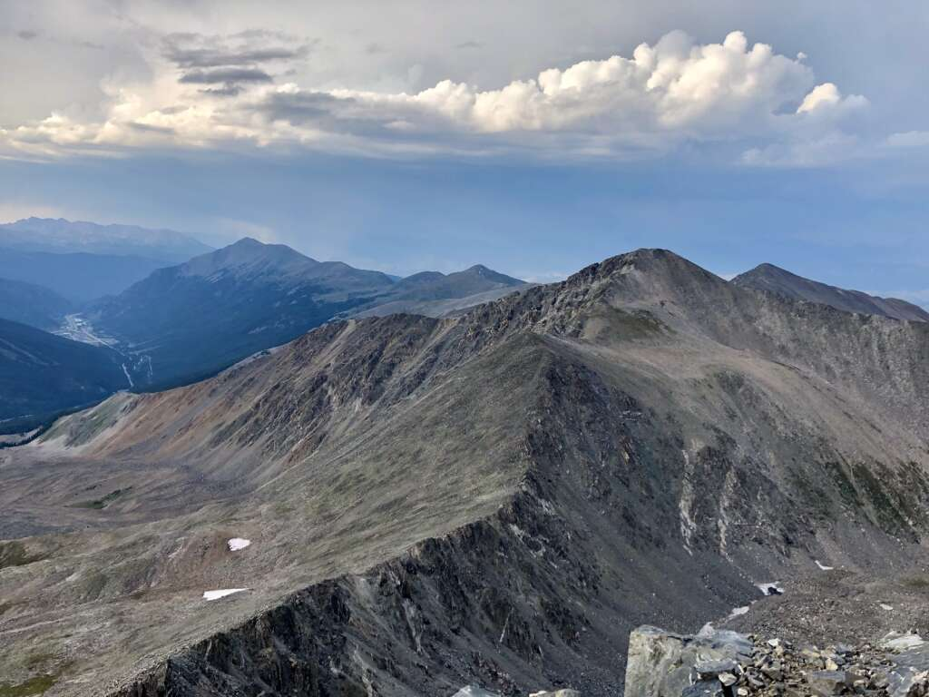 Garrison Hommer's view is pictured along the Tenmile-Mosquito Range ridgeline. The Lakewood resident set a record time of completing the treacherous route solo and unsupported in 31 hours, 10 minutes and 40 seconds last month. | Garrison Hommer/Courtesy photo
