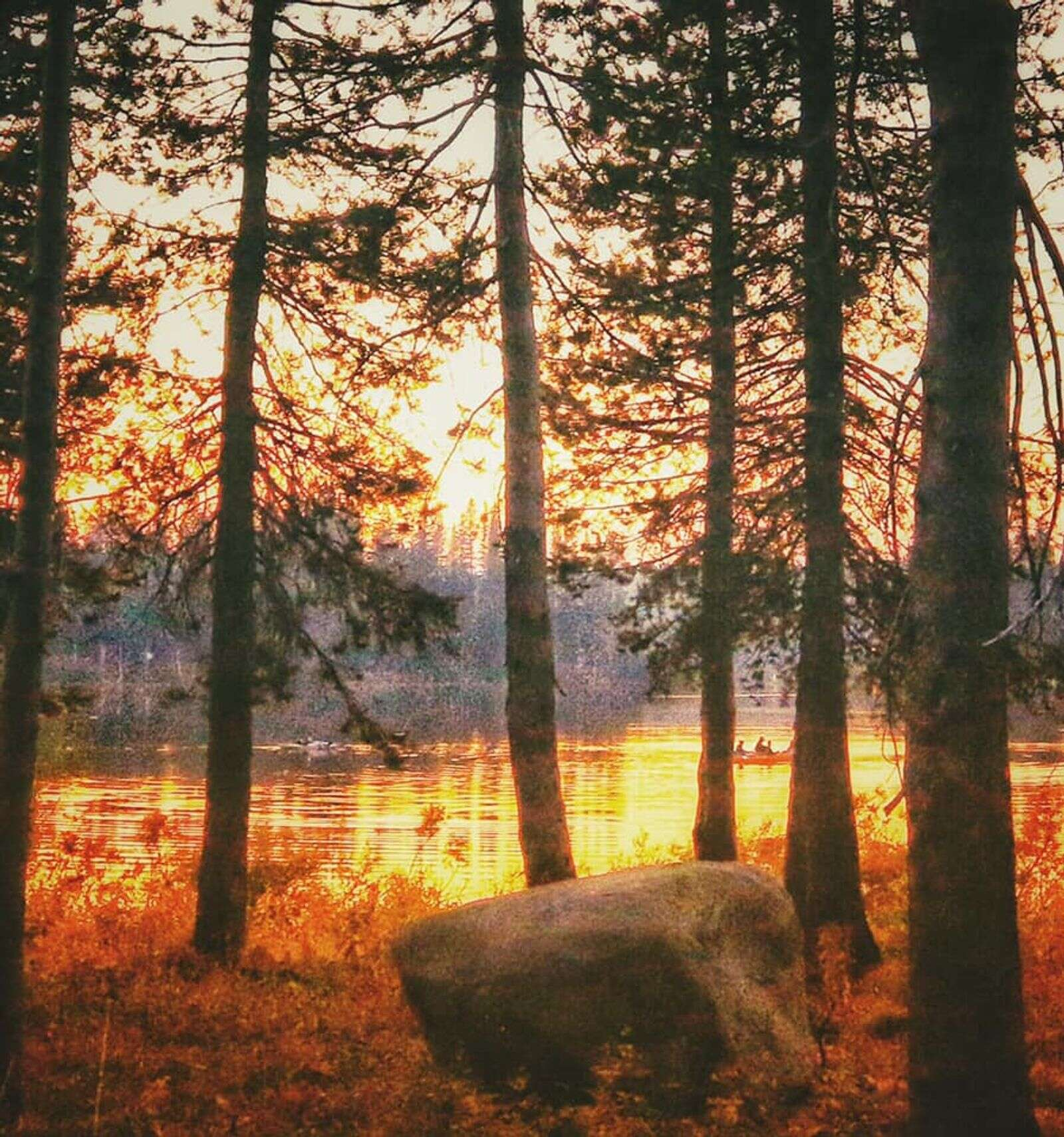 A beautiful fall sunset in Serene Lakes on Donner Summit. | Submitted by Stephanie Becker
