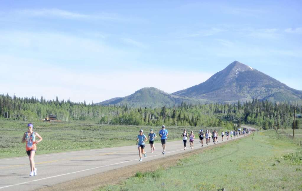 Neraly 500 people participated in the 40th anniversary of the Steamboat Marathon on Sunday morning. (Shelby Reardon)