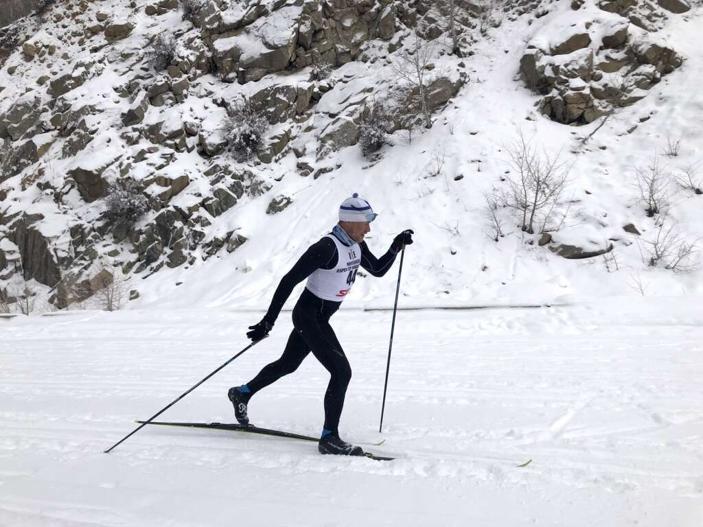 Sami Inkinen competes in the