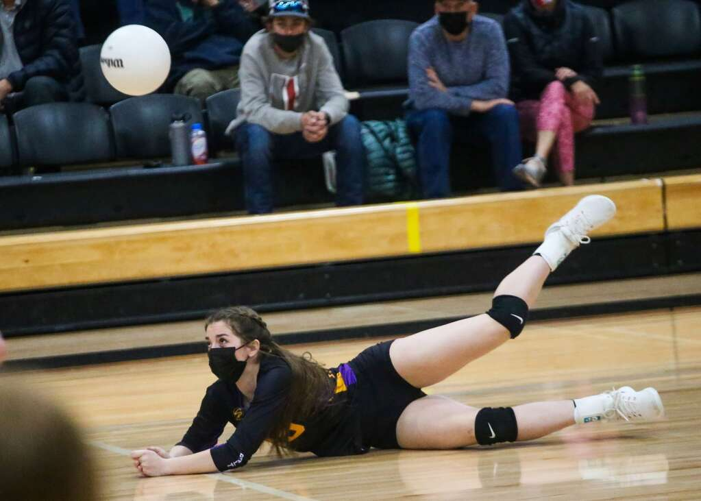 Aspen High School volleyball hosts Basalt on Tuesday, April 20, 2021, inside the AHS gymnasium. Photo by Austin Colbert/The Aspen Times.