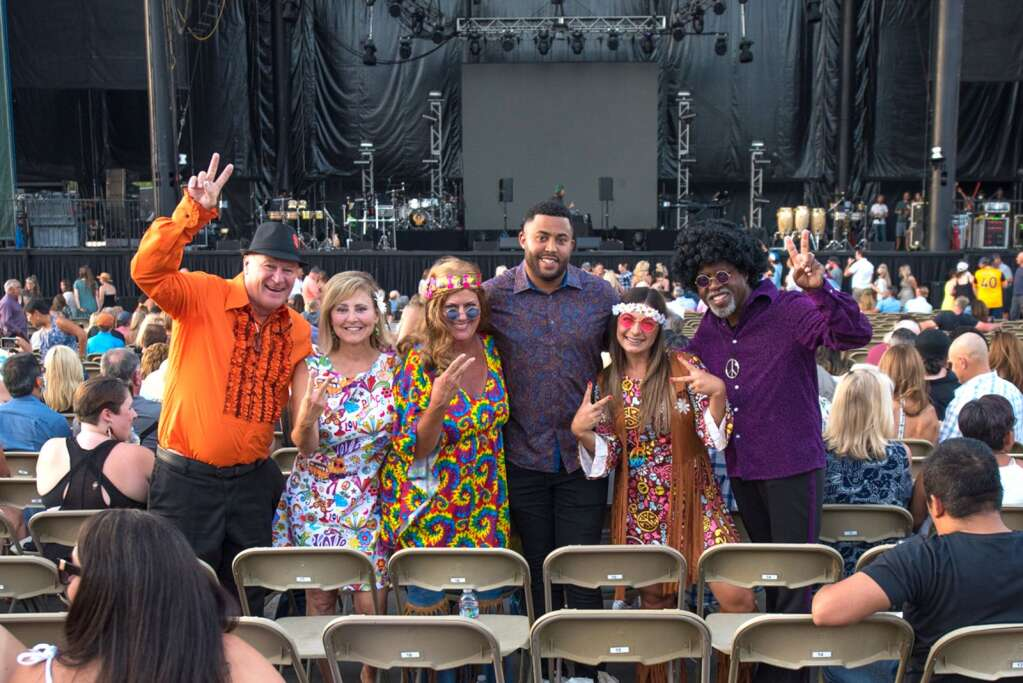 Fans turn out to see Earth, Wind & Fire perform at Harvey's Lake Tahoe on Saturday, July 10th, 2021.