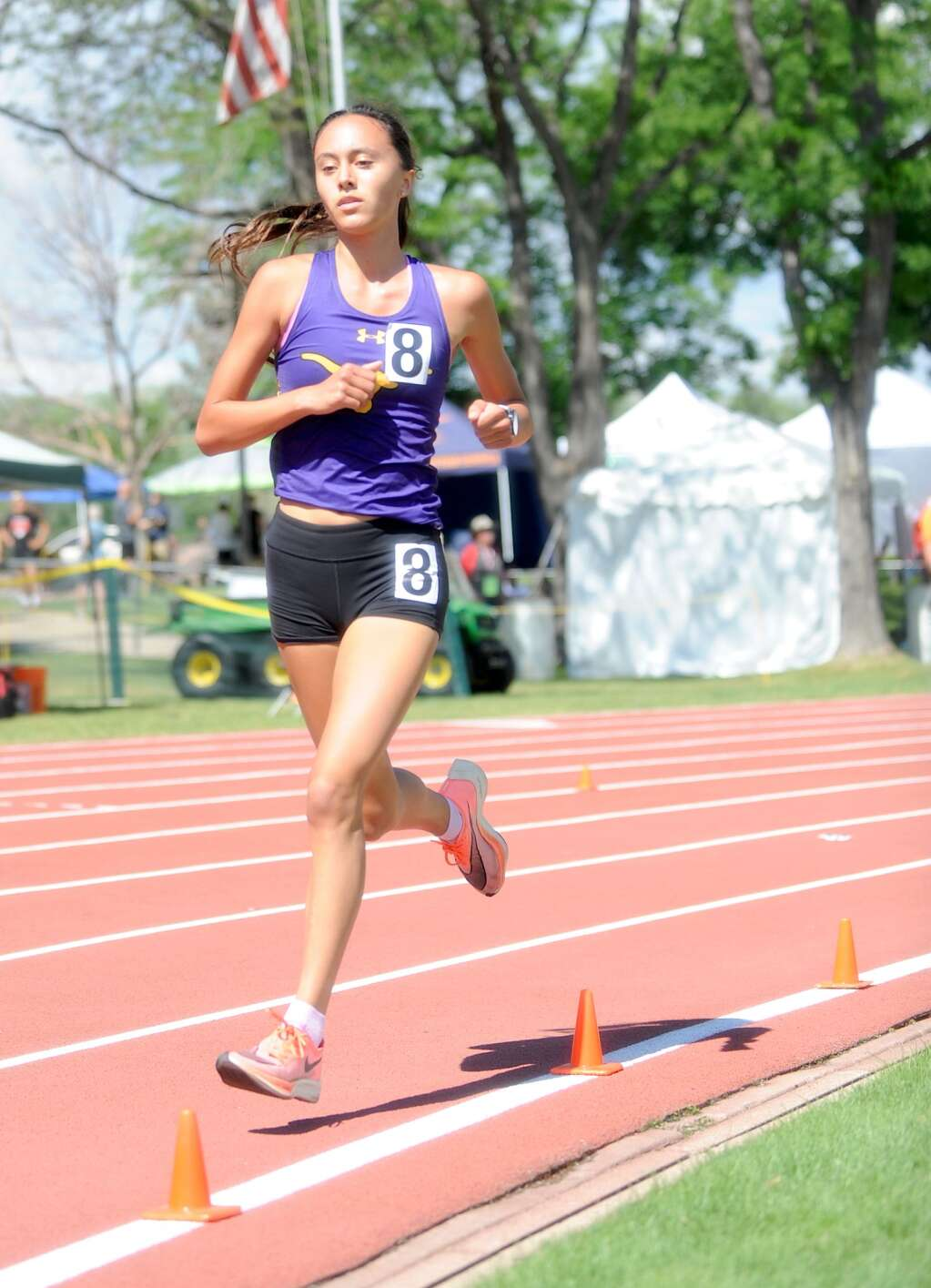 Basalt High School sophomore Ava Lane competes in the Class 3A girls' 3,200-meter run on Friday, June 25, 2021, at the state championship meet in Lakewood. Photo by Shelby Reardon/Steamboat Pilot & Today.
