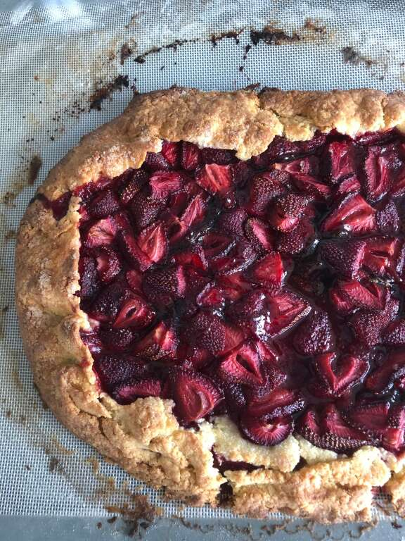 Ken Oringer's strawberry galette | Courtesy of the Jacques Pépin Foundation