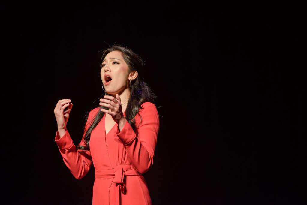 Soprano and Aspen Opera Theater and VocalARTS fellow Yvette Keong at a recent opera scenes master class at the Wheeler Opera House.
