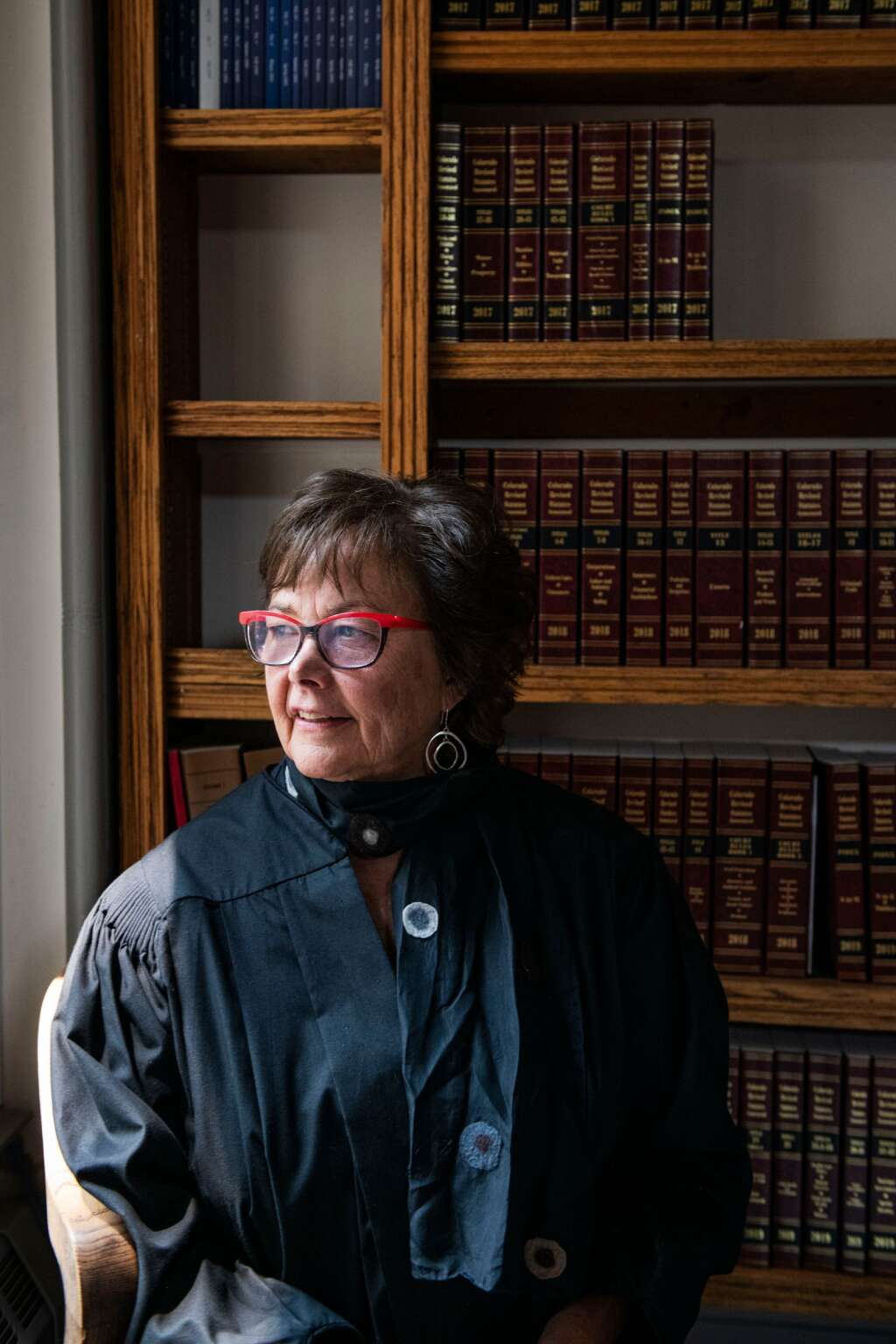 Pitkin County Judge Erin Fernandez-Ely in her chambers at the courthouse. (Kelsey Brunner/The Aspen Times)