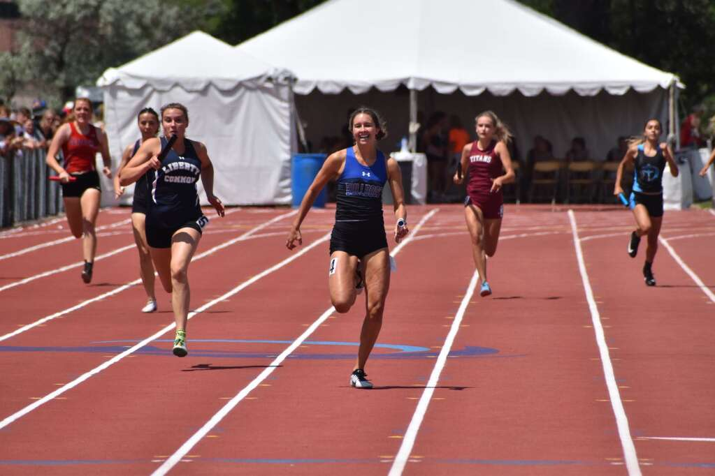 Photo from the state track and field championship on Friday, June 25, 2021, at Jefferson County Stadium in Lakewood. Photo by Cody Jones/Glenwood Springs Post Independent.