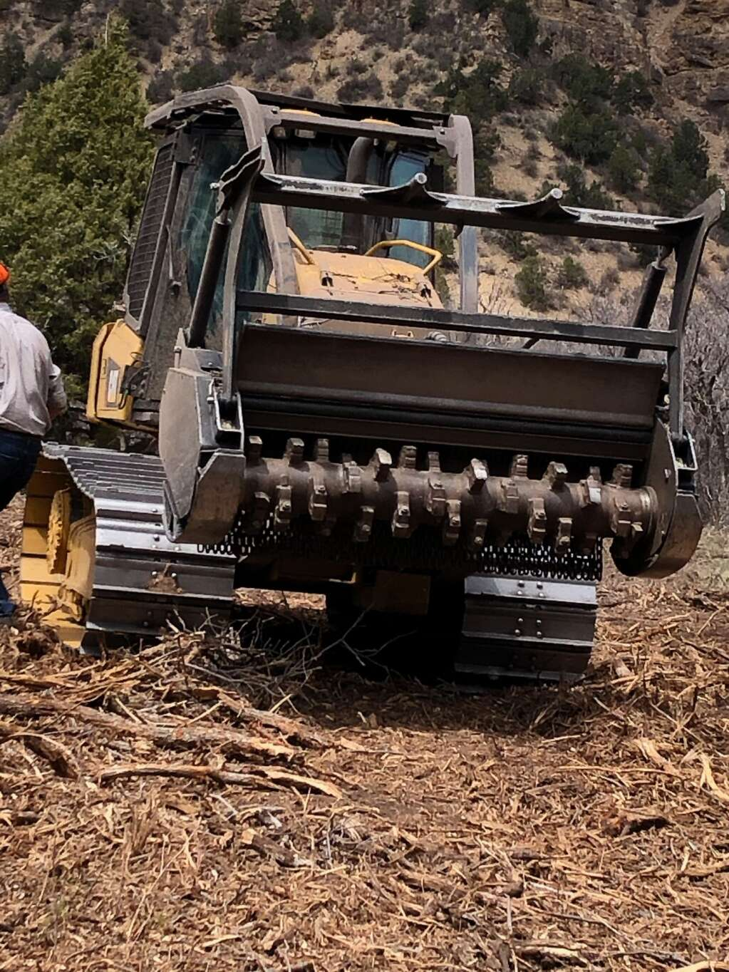 A direct view of the masticator used on a fire mitigation project in the Crystal Valley. | Scott Condon/The Aspen Times