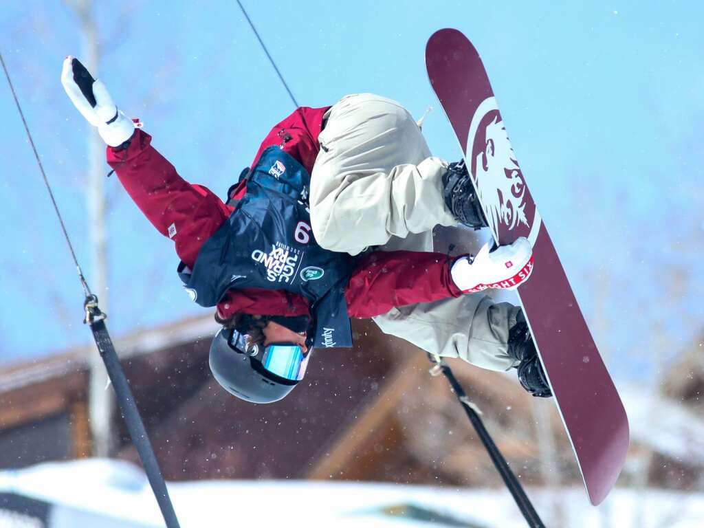 Longmont's Chase Blackwell competes in the men's snowboard halfpipe competition at the U.S. Grand Prix and World Cup on Sunday, March 21, 2021, at Buttermilk Ski Area in Aspen. Photo by Austin Colbert/The Aspen Times.