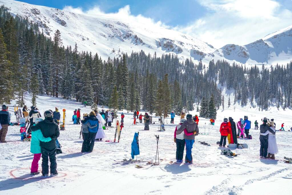 Thirty couples made their way to the top of Loveland Ski Area Sunday to get married or renew their wedding vows for the 30th annual Mountaintop Matrimony event. | Photo by Casey Day