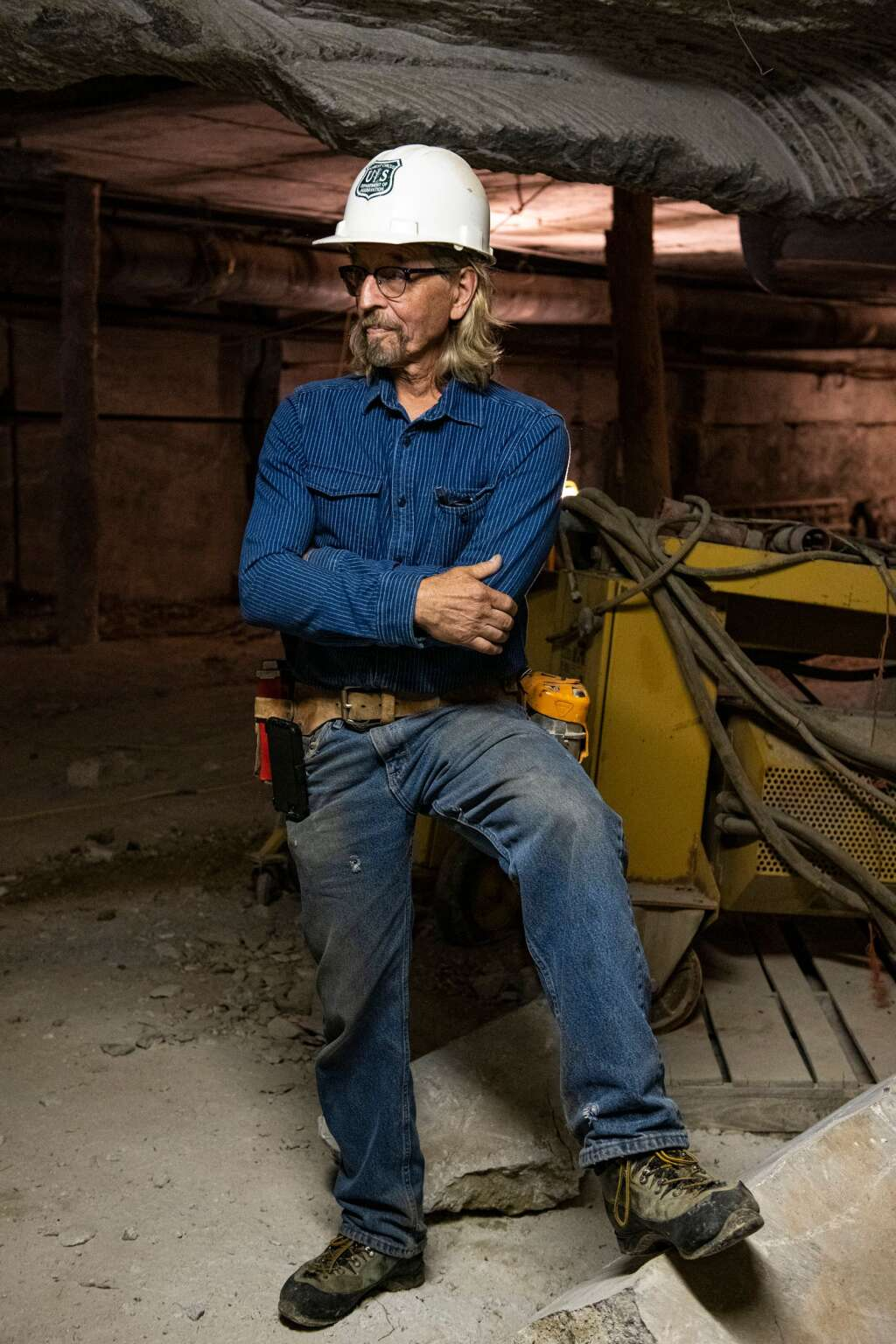 Robert Congdon stands near the entrance to his White Banks Alabaster Mine outside of Redstone on Thursday, July 29, 2021. (Kelsey Brunner/The Aspen Times)