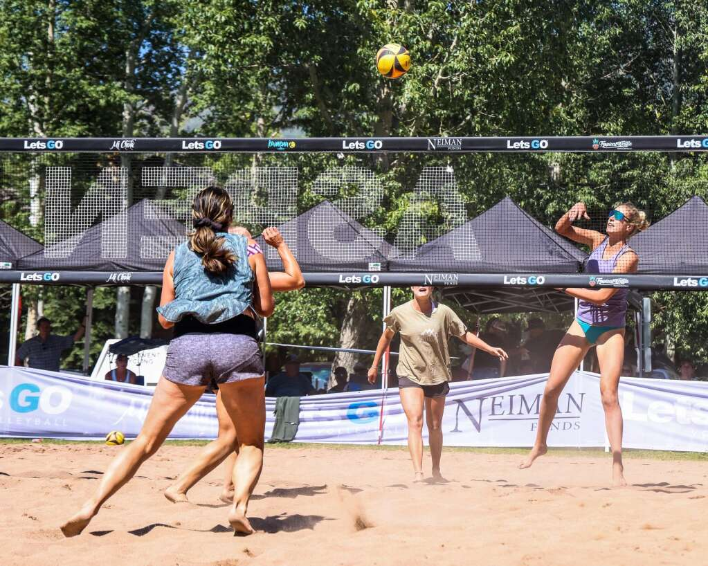 The women's open finals of the MotherLode Volleyball Classic on Monday, Sept. 6, 2021, at Koch Lumber Park in Aspen. Photo by Austin Colbert/The Aspen Times.
