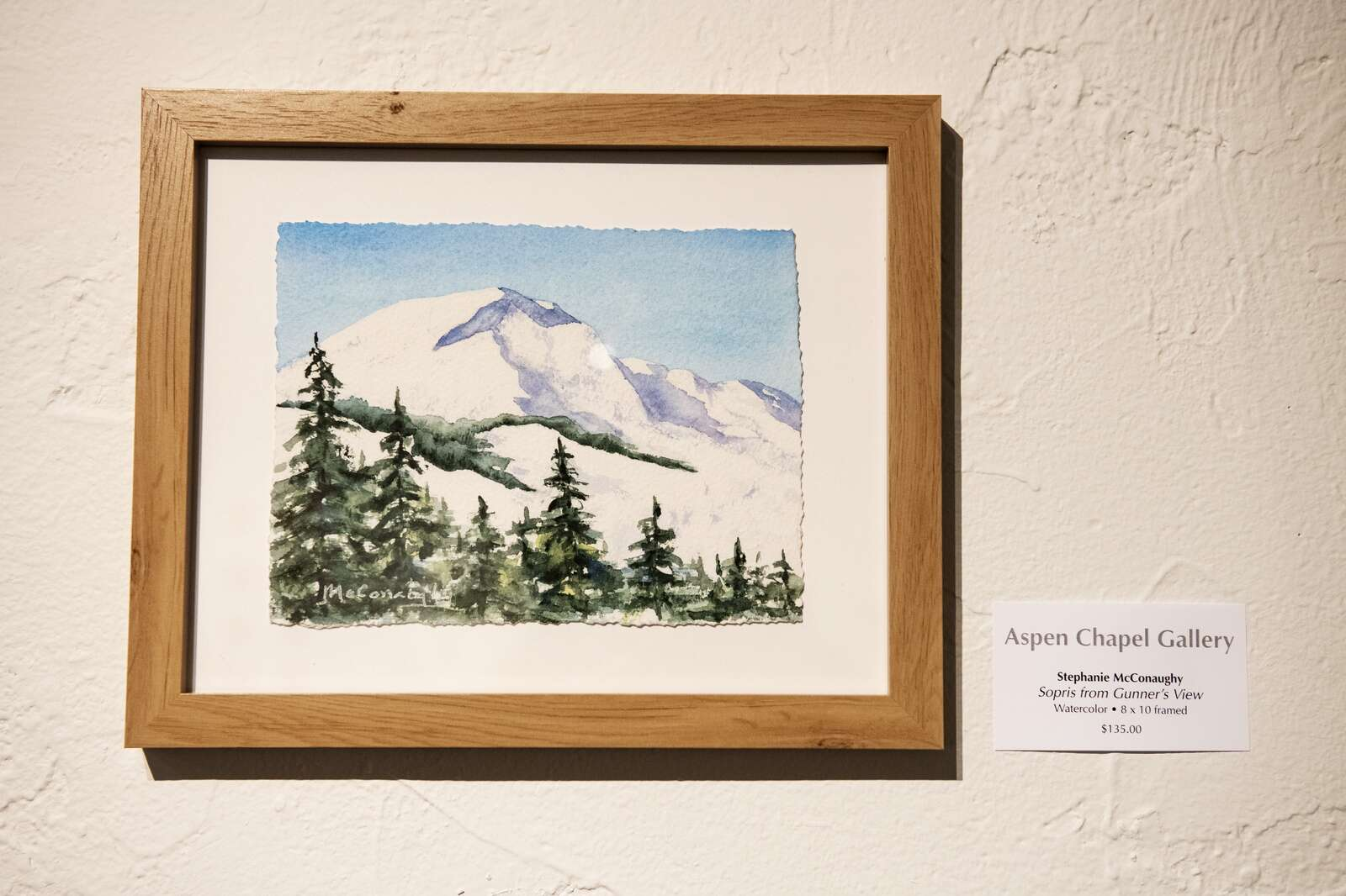 A watercolor painting by Stephanie McConaughy on Tuesday, Nov. 17, 2020. (Kelsey Brunner/The Aspen Times)