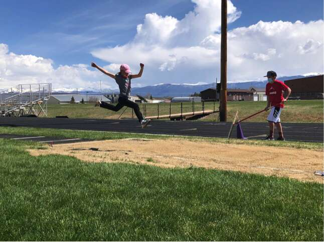 Students compete at a field day for Granby's and Fraser's elementary schools.