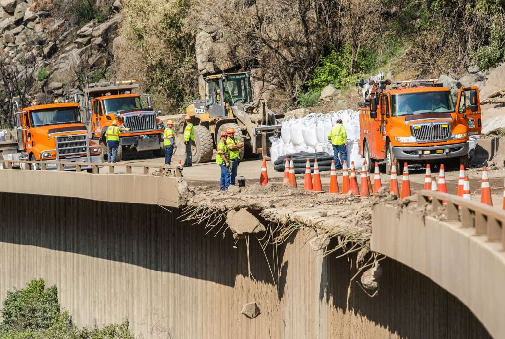 Infrastructure was heavily damaged during the slides that decimated Glenwood Canyon, as shown Wednesday in between Dotsero and Glenwood Springs. Repairs are said to total around $15 million.   Chris Dillmann/cdillmann@vaildaily.com