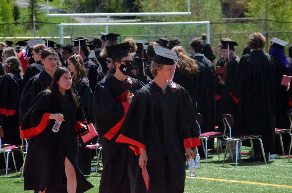 At the Steamboat Springs High School Commencement Ceremony for the Class of 2021 on Saturday, May 29 on Gardner Field. (Photo by Bryce Martin)