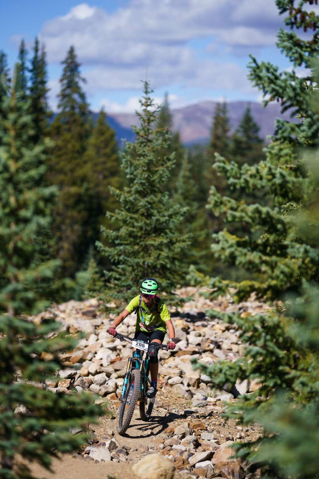 Lili Zygulski of Breckenridge rides up Turk's trail on the 9.3-mile small course on her way to taking first place in the junior girls 13-15 category at Sunday's Fall Classic mountain bike race in Breckenridge. | Photo by John Hanson/For the Summit Daily News