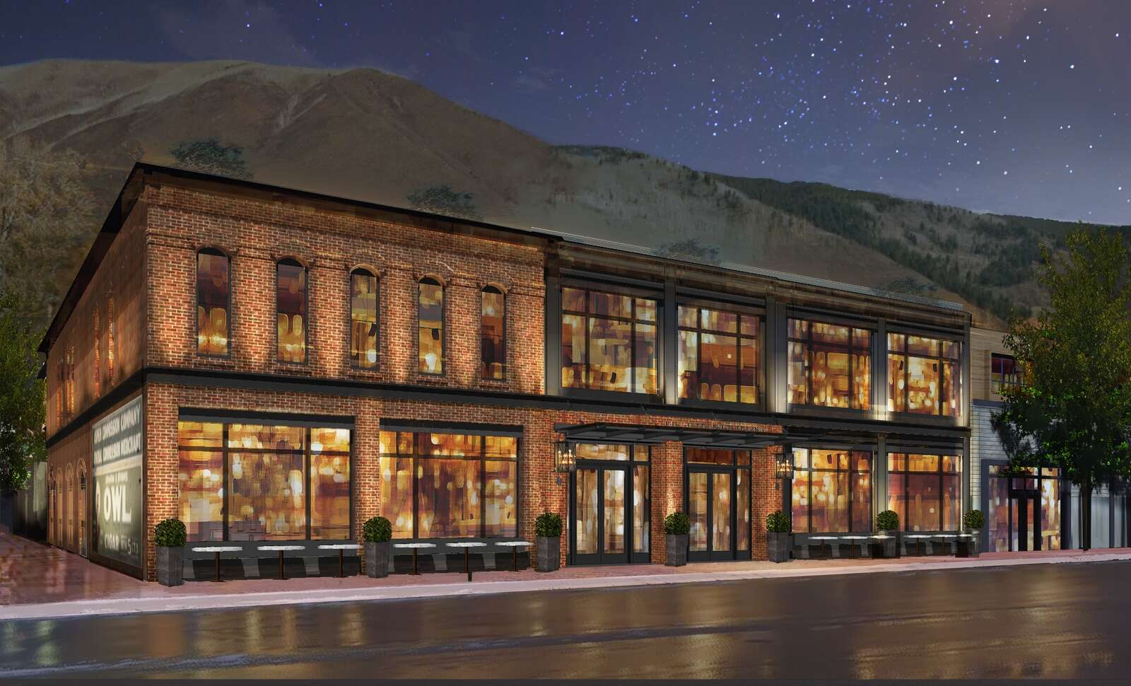 An architect's rendering of what a new boutique hotel in the former Crystal Palace will look like.