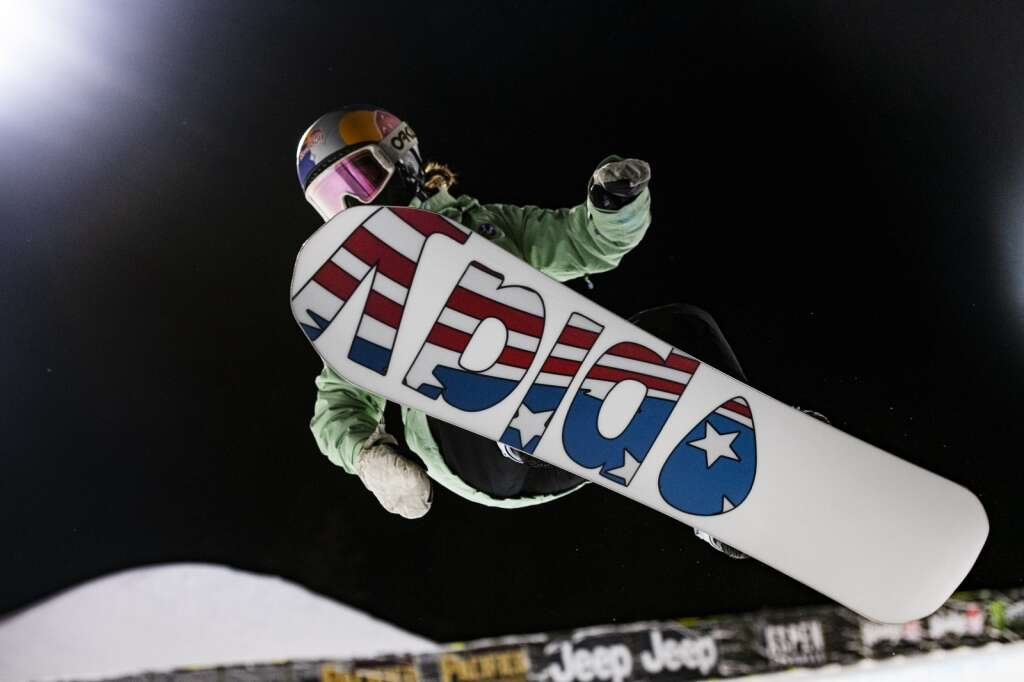 Spanish snowboarder Queralt Castellet airs out of the Buttermilk Superpipe on the first evening of practice for the 2021 X Games Aspen on Tuesday, Jan. 26, 2021.