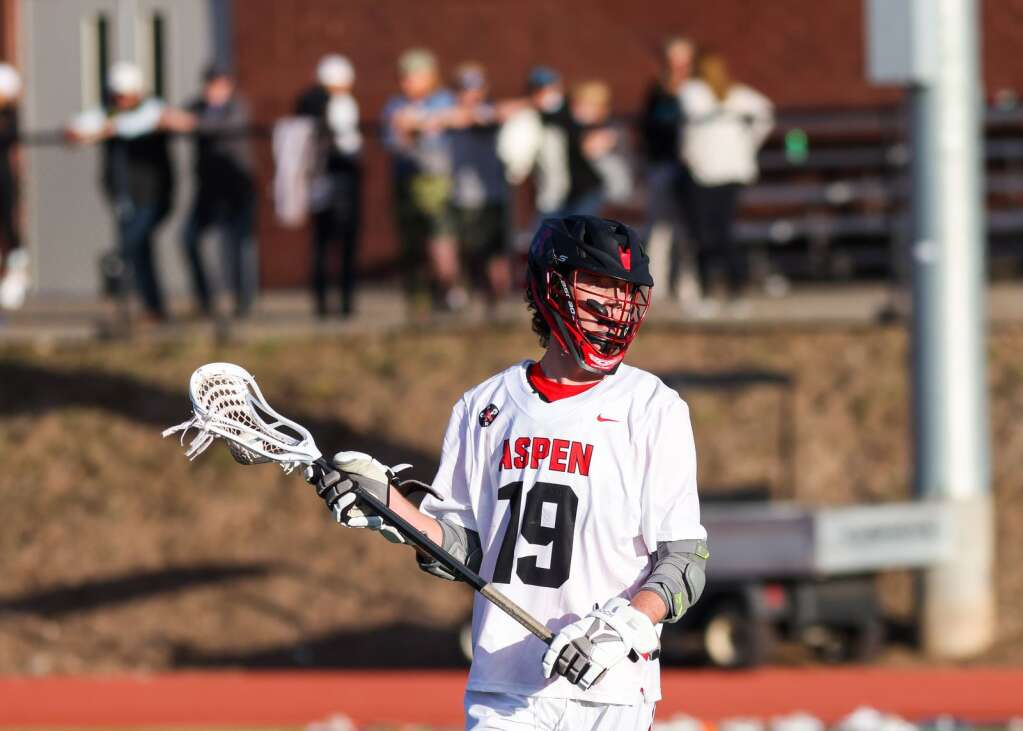 Aspen High School boys lacrosse hosts Steamboat Springs on Friday, May 7, 2021, on the AHS turf. The Sailors won, 12-9. Photo by Austin Colbert/The Aspen Times.