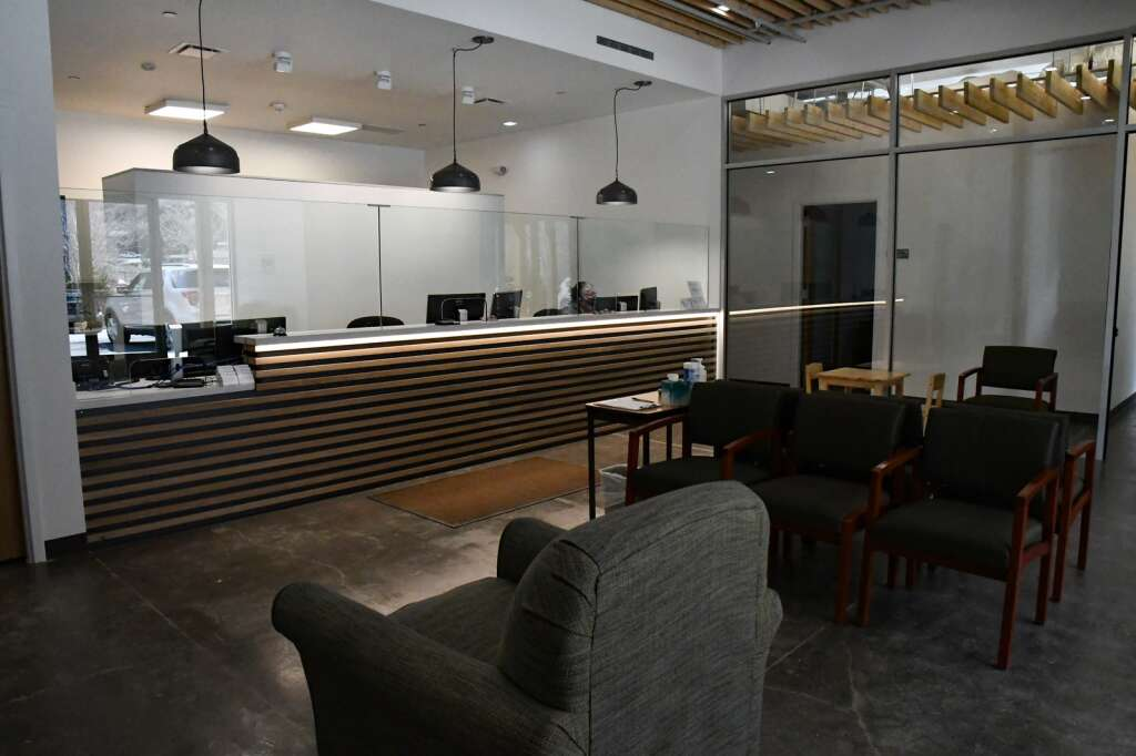 The waiting area at the new Mind Springs Health Glenwood Springs Location in south Glenwood. |Chelsea Self / Post Independent
