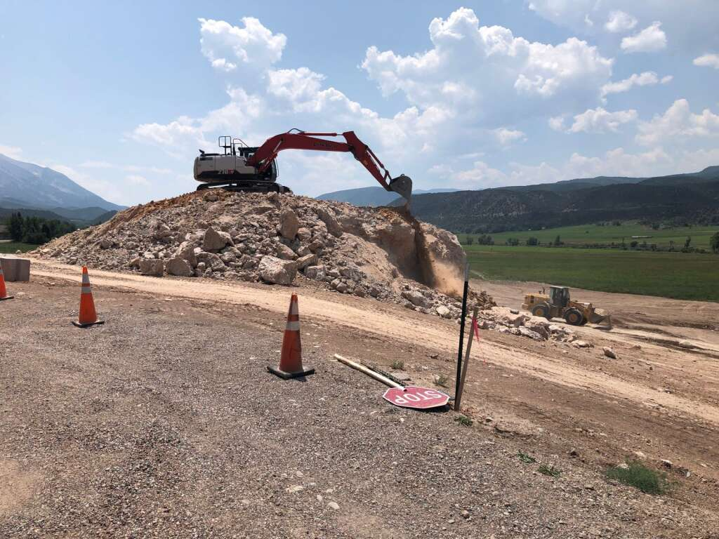 About 1 mile from the Tybar Ranch, the new owner of another spread puzzled observers by excavating a prominent rock formation. | Scott Condon/The Aspen Times