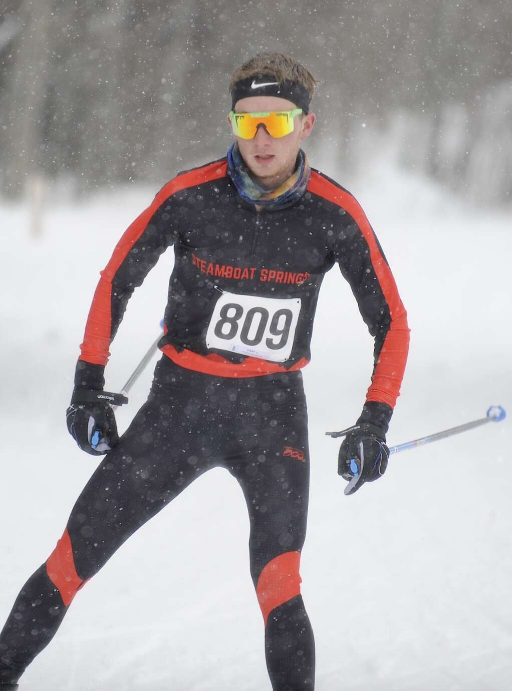 Steamboat Springs Nordic skier Alex Colby finished third during a home race at the Steamboat Ski Touring Center on Friday afternoon. (Photo by Shelby Reardon)