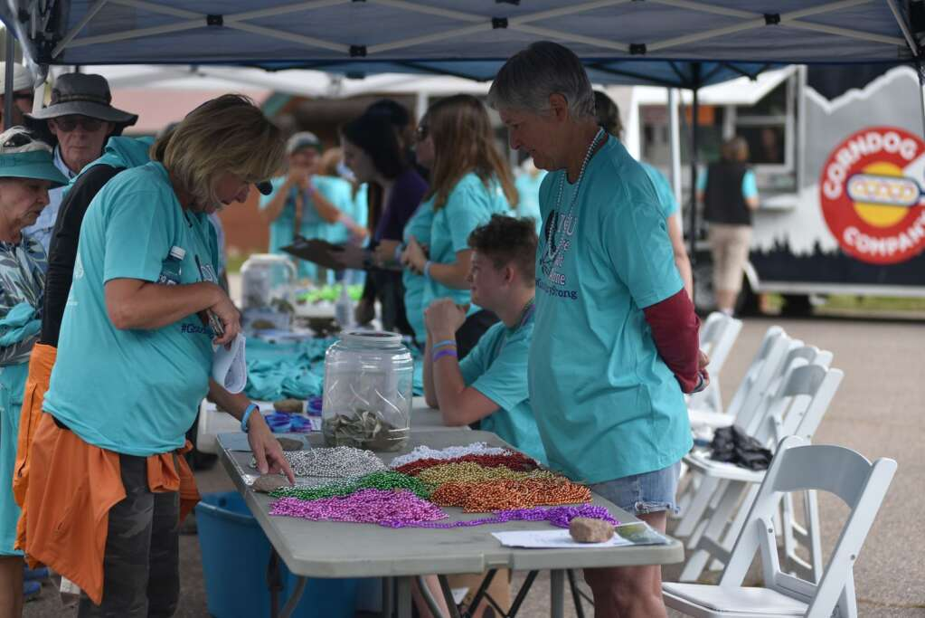 Honor beads were available on Sunday, Sept. 12, 2021 at Snow Mountain Ranch for the first You Are Not Alone suicide prevention and awareness event. The different color beads represent different relationships to suicide. | McKenna Harford / mharford@skyhinews.com