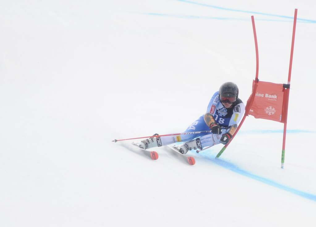 Steamboat Springs Winter Sports Club skier Noah Riemenschneider competes in Giant Slalom race of the Spring Series at Steamboat Resort on Tuesday.