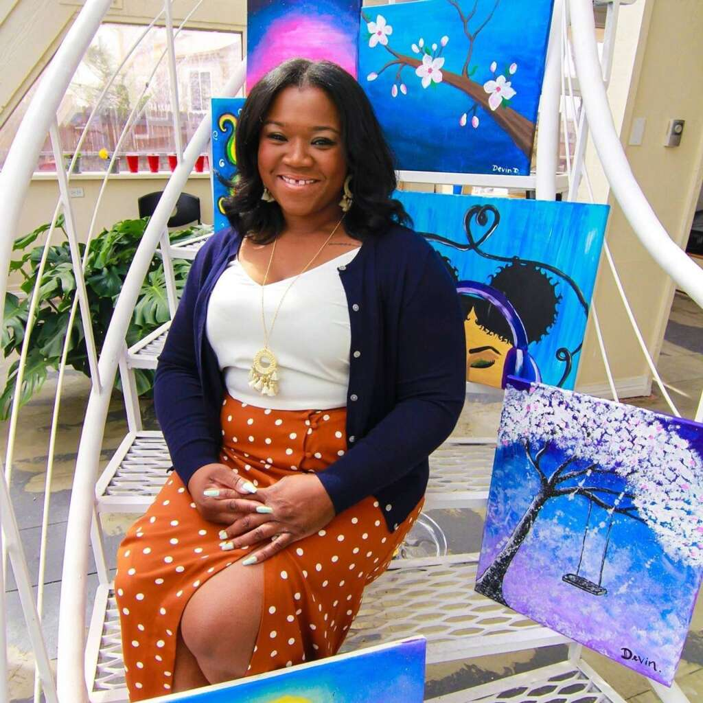 Sarah Woodson got her start in the industry in 2016 when she launched Kush & Canvases, a cannabis hospitality company offering painting classes, culinary experiences, and more. | Damian Mathis/24K Motion Pictures
