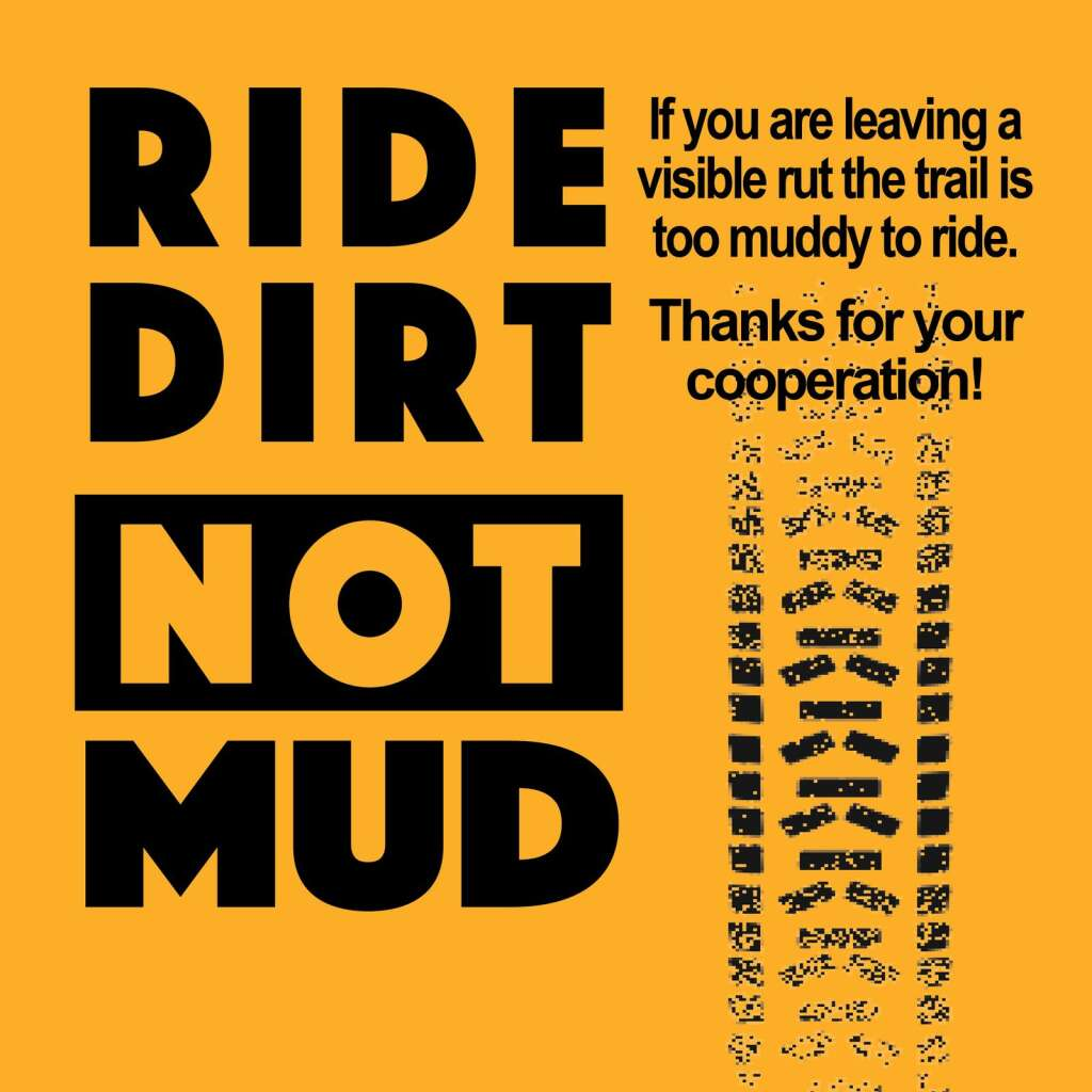 Roaring Fork Mountain Bike Association and partners post this sign at many of the local trails.