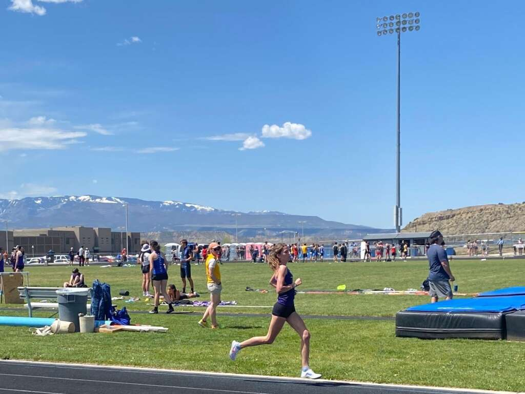 Basalt senior Sierra Bower competes at the Rifle Invitational on Friday, May 7, 2021. Kristen Maley/courtesy photo.
