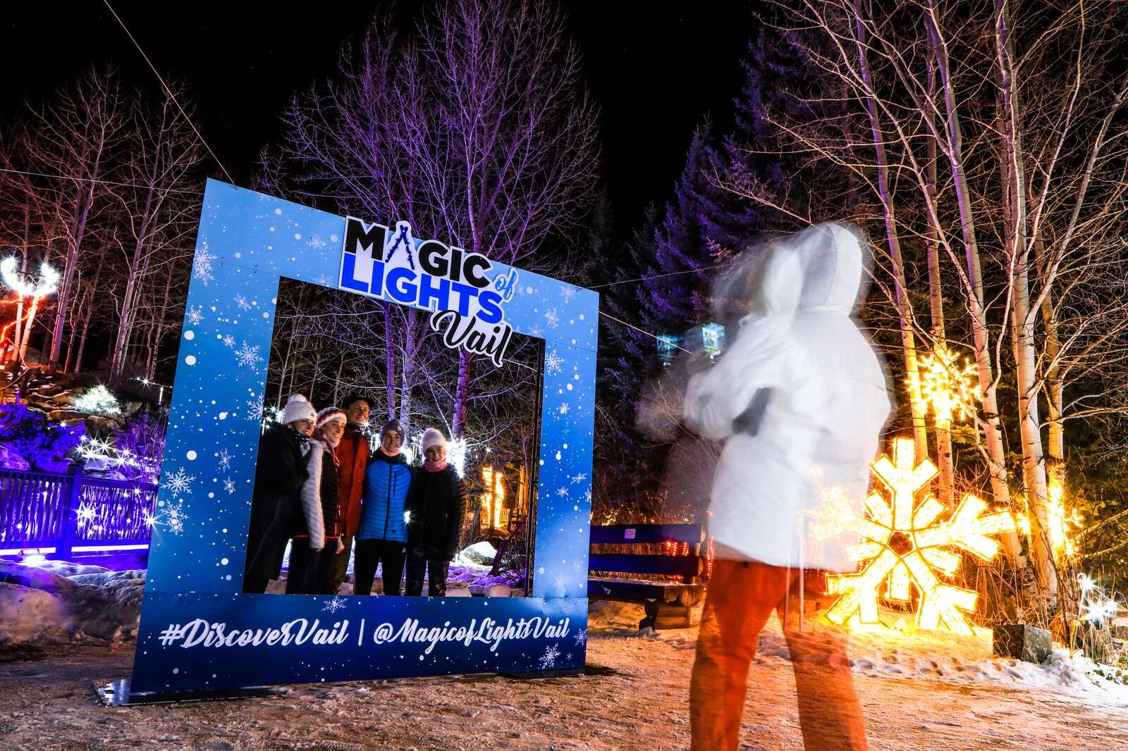 There are plenty of photo opportunities for the Magic of Lights Vail Thursday in Vail. The event opens to the public today and runs through the end of January.